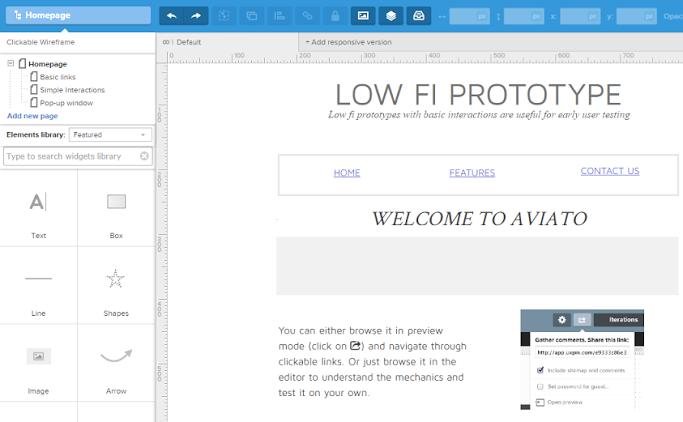 Screenshot: UXPin