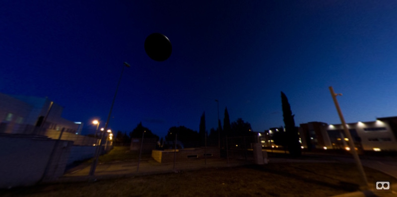 A floating sphere in the sky