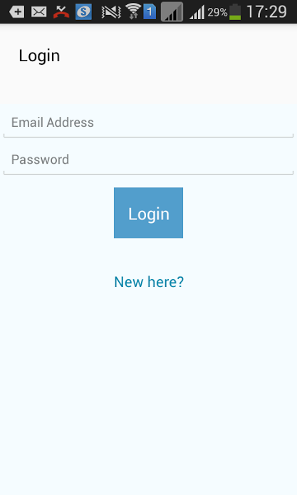 react native firebase authentication app