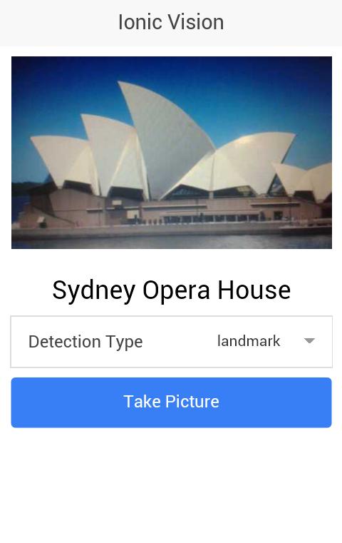 ionic vision app