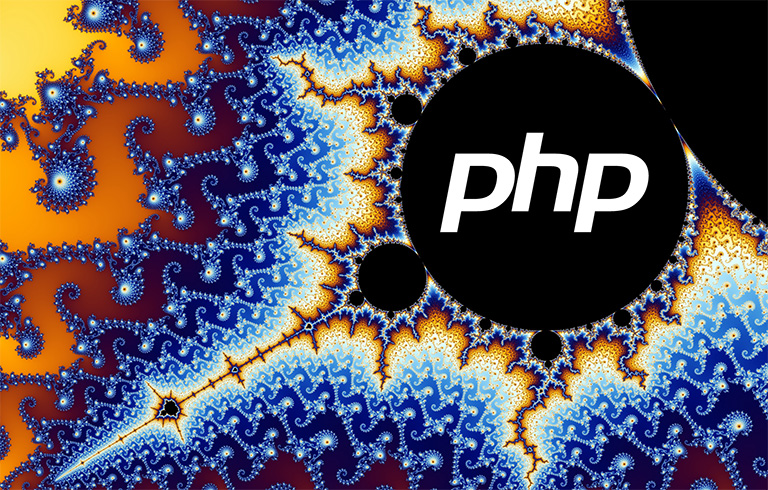 Image of fractals with PHP embedded in them