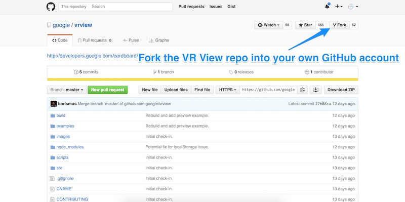 Forking the GitHub repo