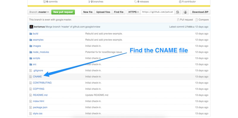 Finding the CNAME file