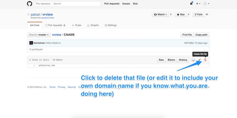 Deleting or renaming that CNAME file