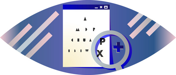 An eye test for pixel size