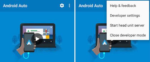 Auto App Start Screen