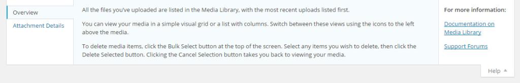 contextual help screen sample