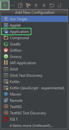 Add New Configuration