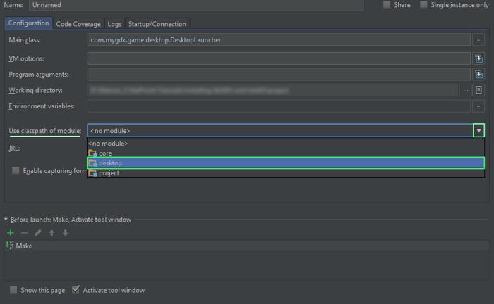 User classpath of module