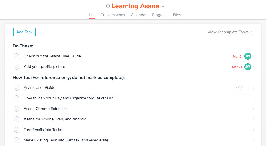 Asana Content Library