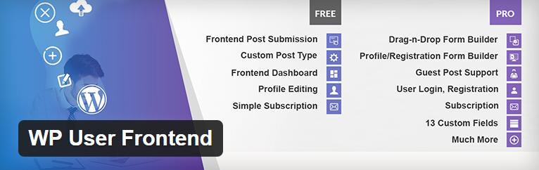 Figure 3: WP User Frontend