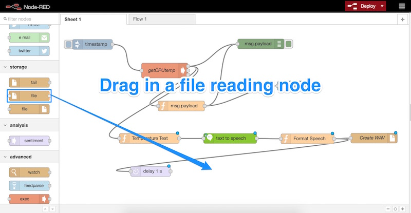 Dragging in a file reading node
