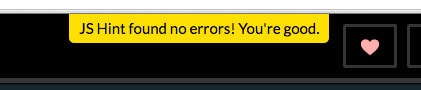 JS Hint found no errors! You're good.