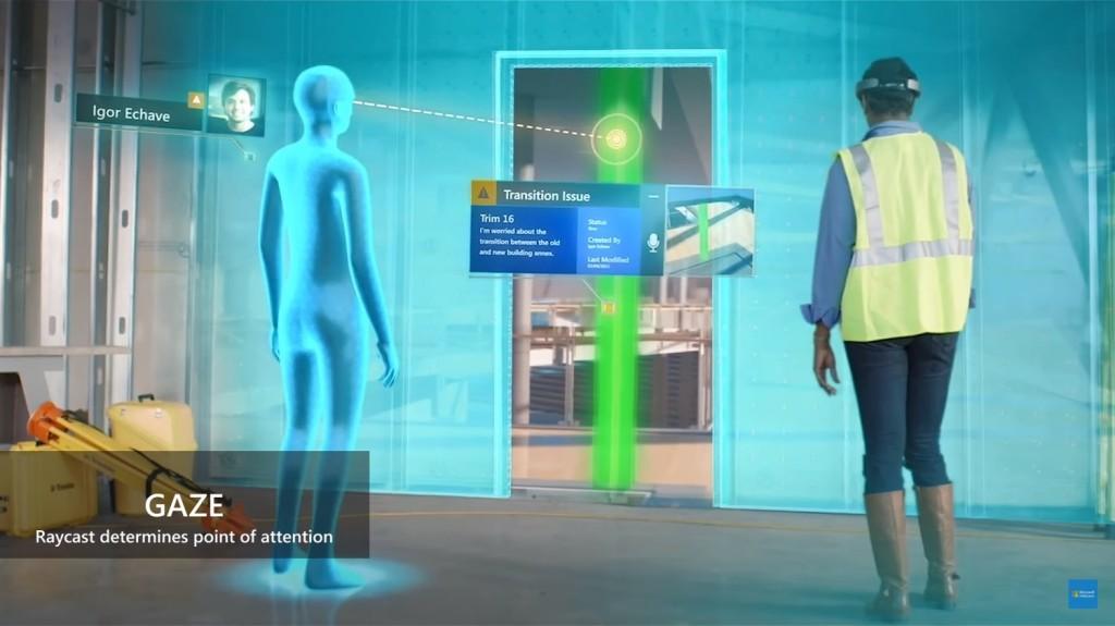 Microsoft Holographic Gaze Graphic