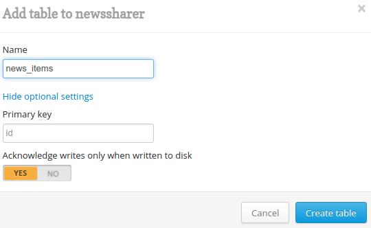 create news_items table