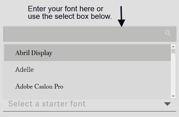 Type Genius, typeface pairing website.