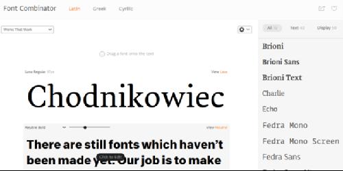 Font Combinator website.
