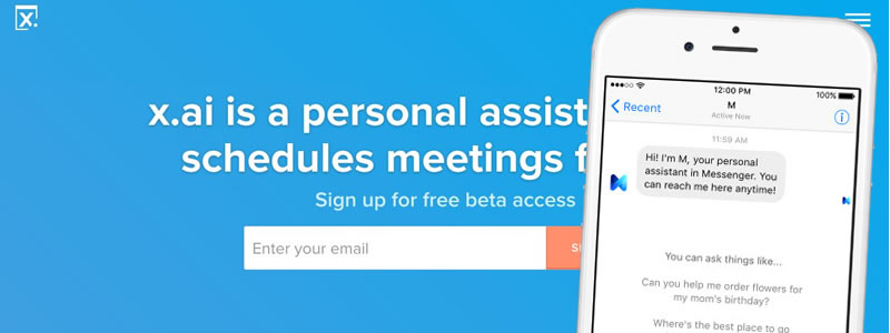 Virtual assistants: x.ai and 'M' from Facebook