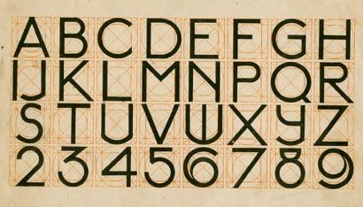 J.L.M. Lauweriks. Alphabet, [1900]. NAI Collection
