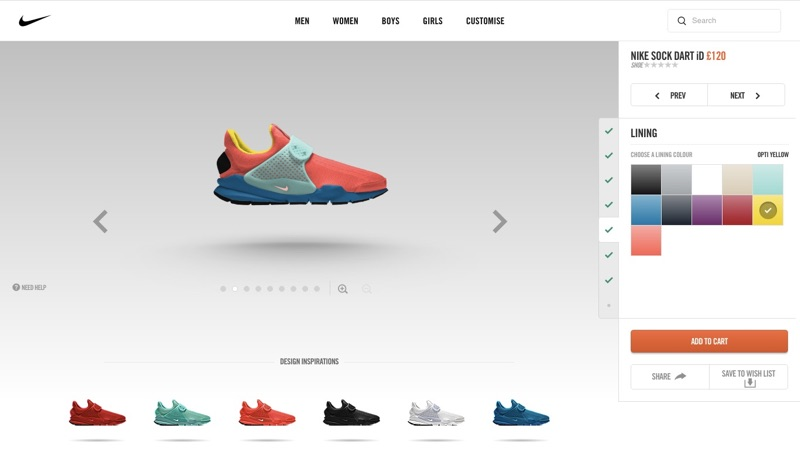 Nike Shoe Customization