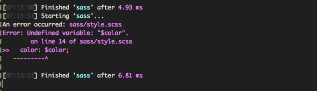 Undefined Sass Variable Error Handling