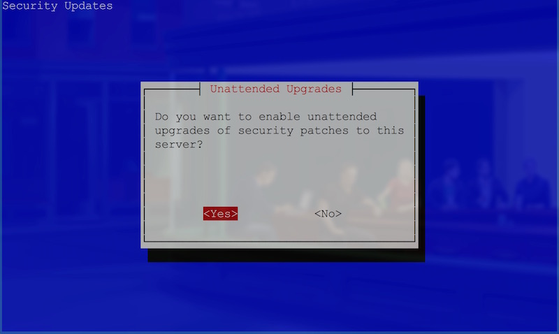 Do you want unattended upgrades question