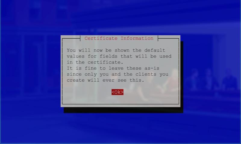 Default values notification