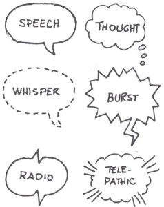 Different modes of speech bubble