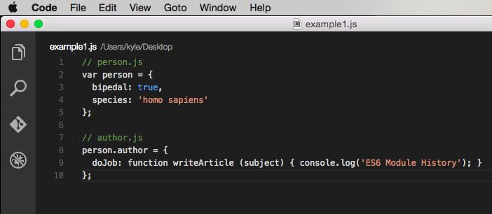 Example code 1
