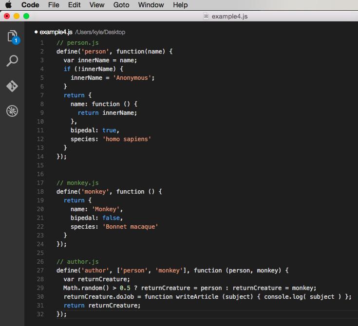 Example code 4 - AMD