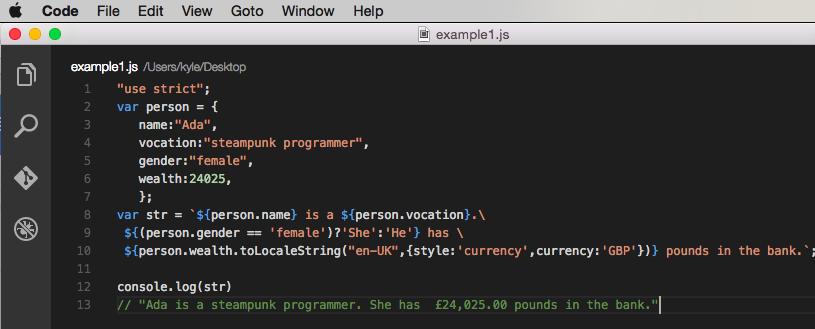 Example code - 1
