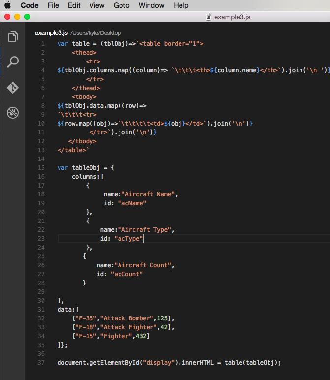 Example code - 3