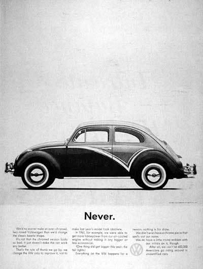 Volkswagen Ad: Never.
