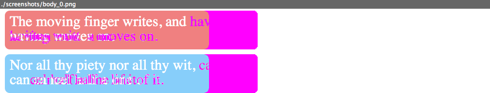 Screenshot of an error