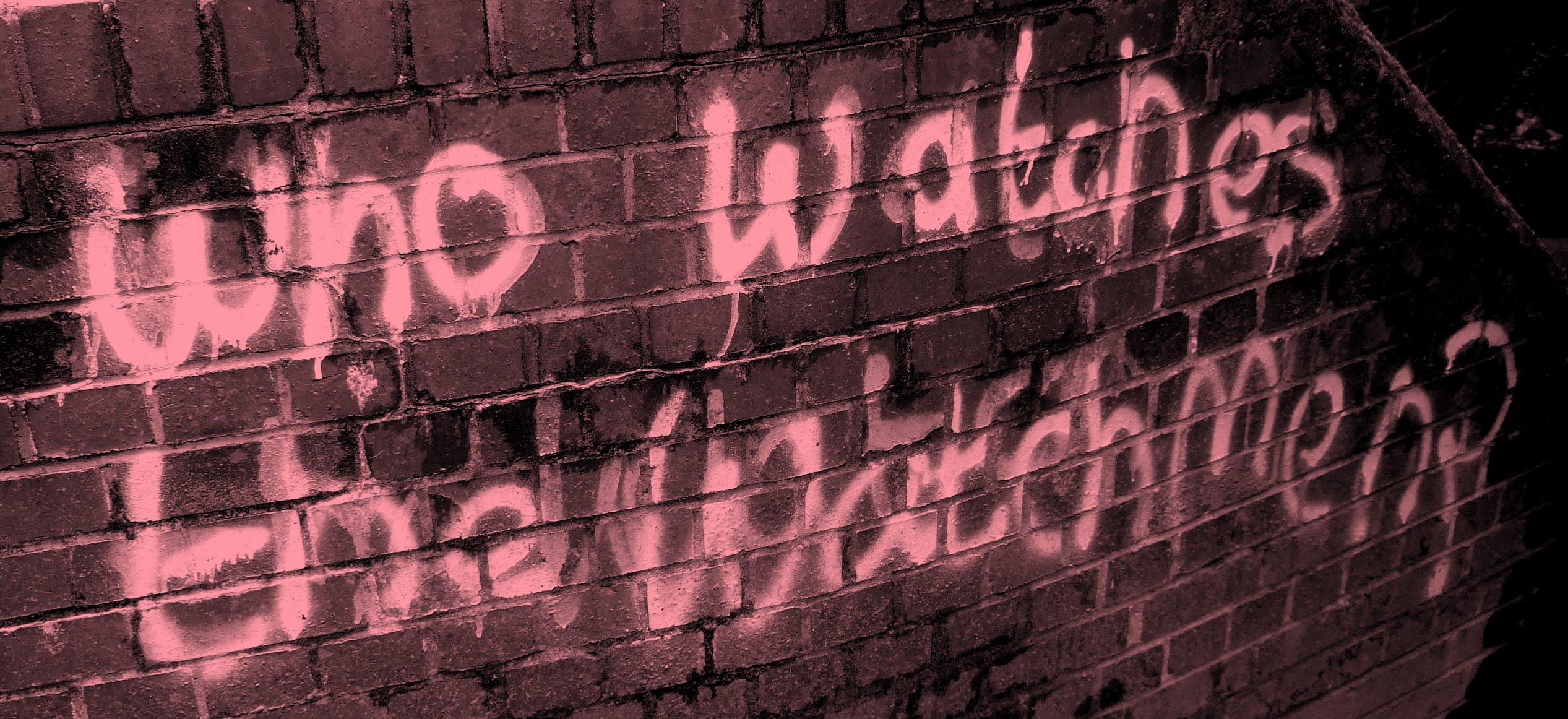 Who watches the watchmen graffiti