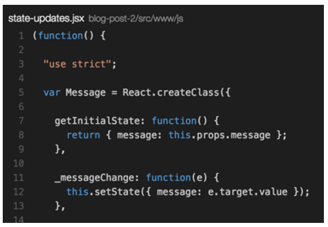 Visual Studio code editor