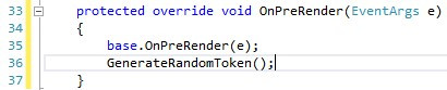 override the OnPreRender() function