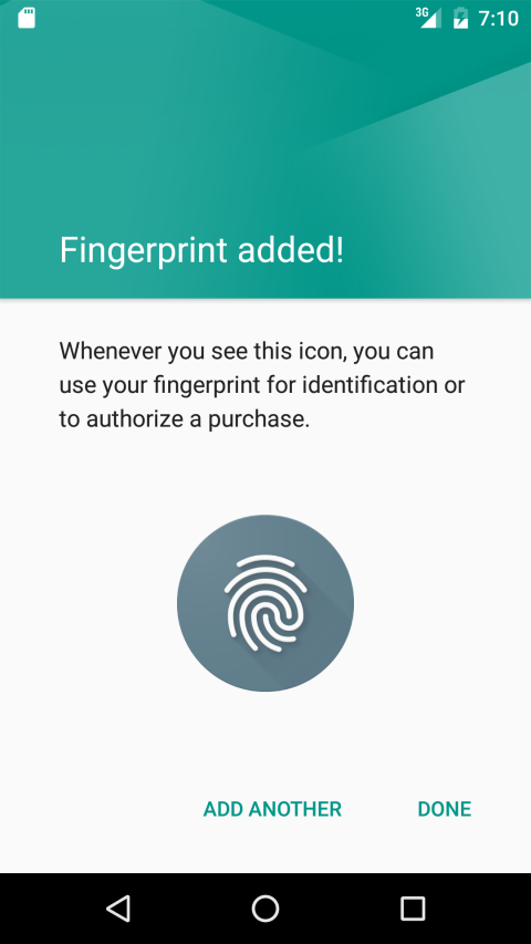Fingerprint page