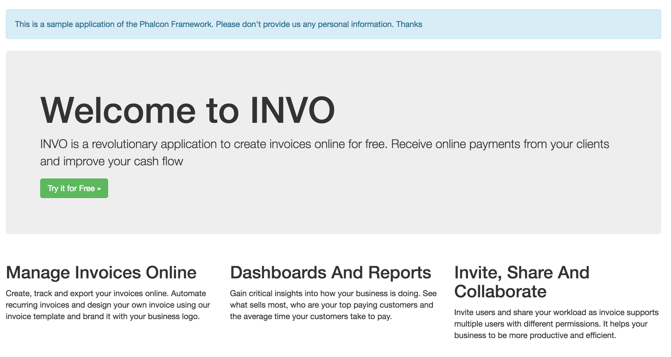 Invo screenshot