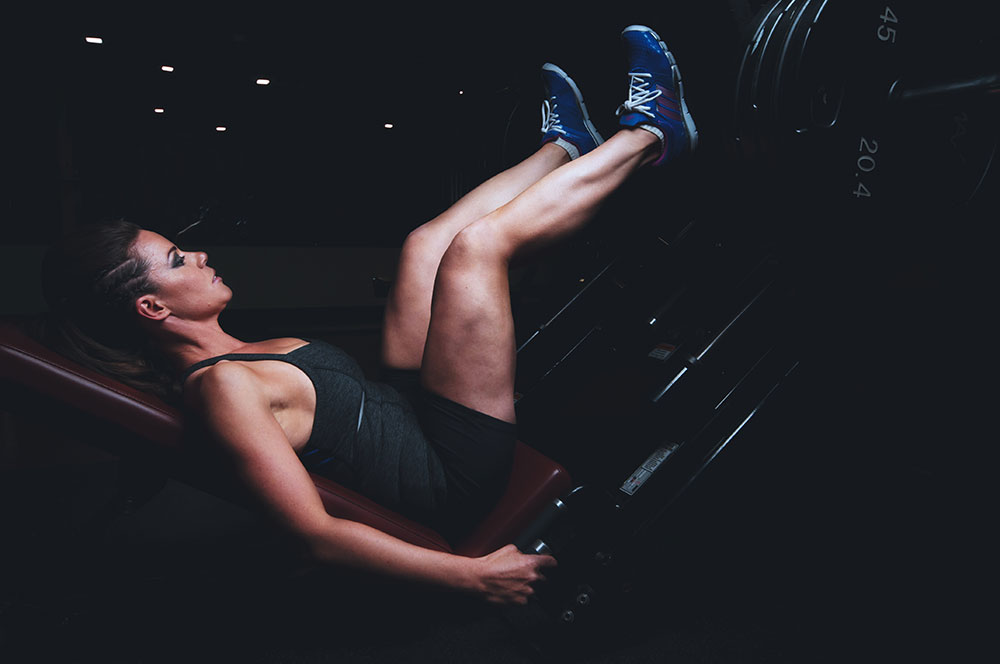A woman at the gym