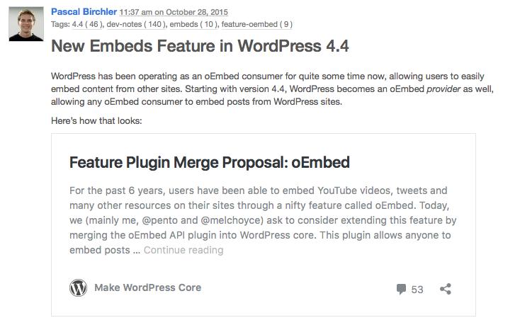 WordPress as oEmbed Provider