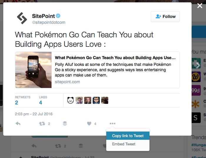 WordPress embed link to Tweet