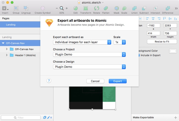 Importing Screens from Sketch