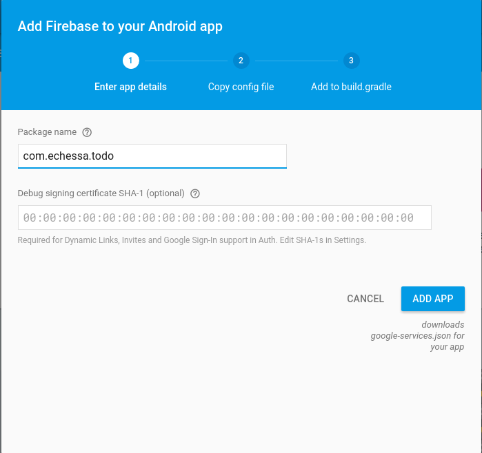 Add Android App to Project