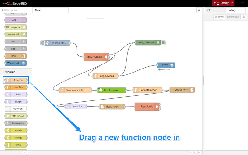 Dragging in a new function node