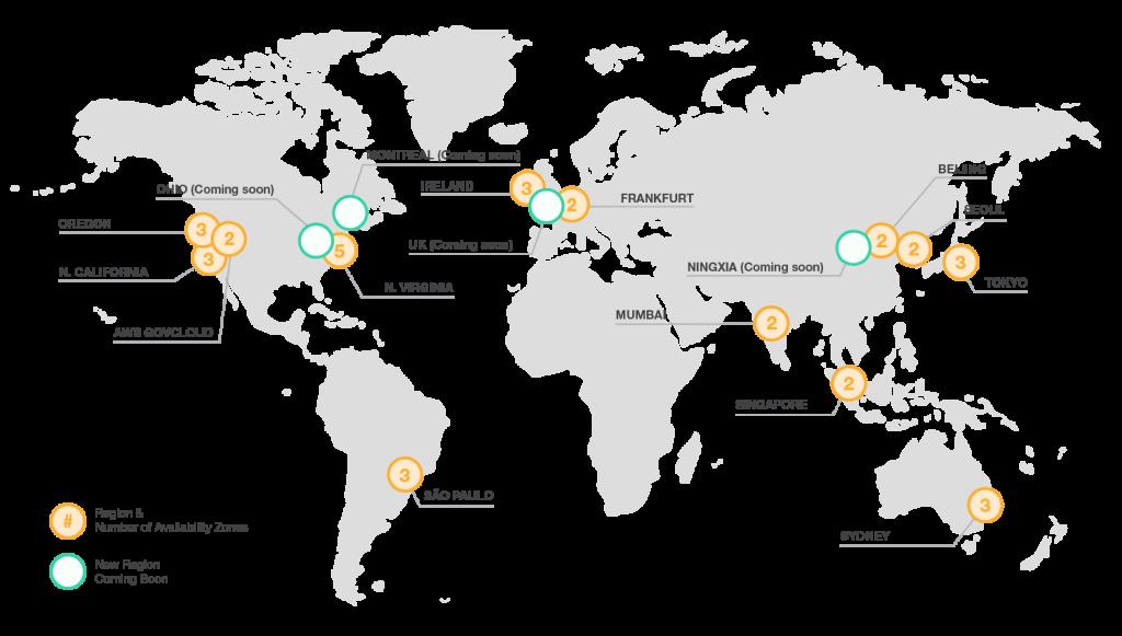 AWS server locations