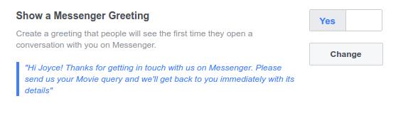 Customize Greeting Text