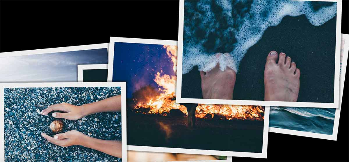 Stack of images animated using the Web Animations API