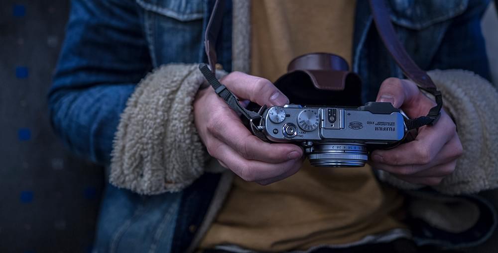 Someone holding a camera