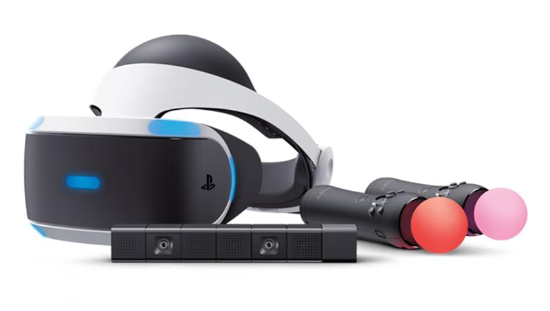 The PlayStation VR headset with Move Controllers and the PlayStation Camera